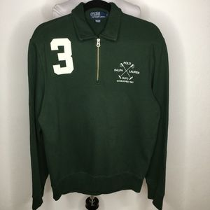 Polo Ralph Lauren Green Zip Pullover Shirt Small